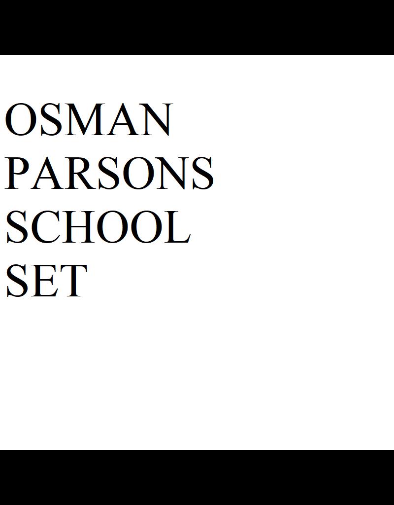 Just Sculpt Osman Parsons School Set