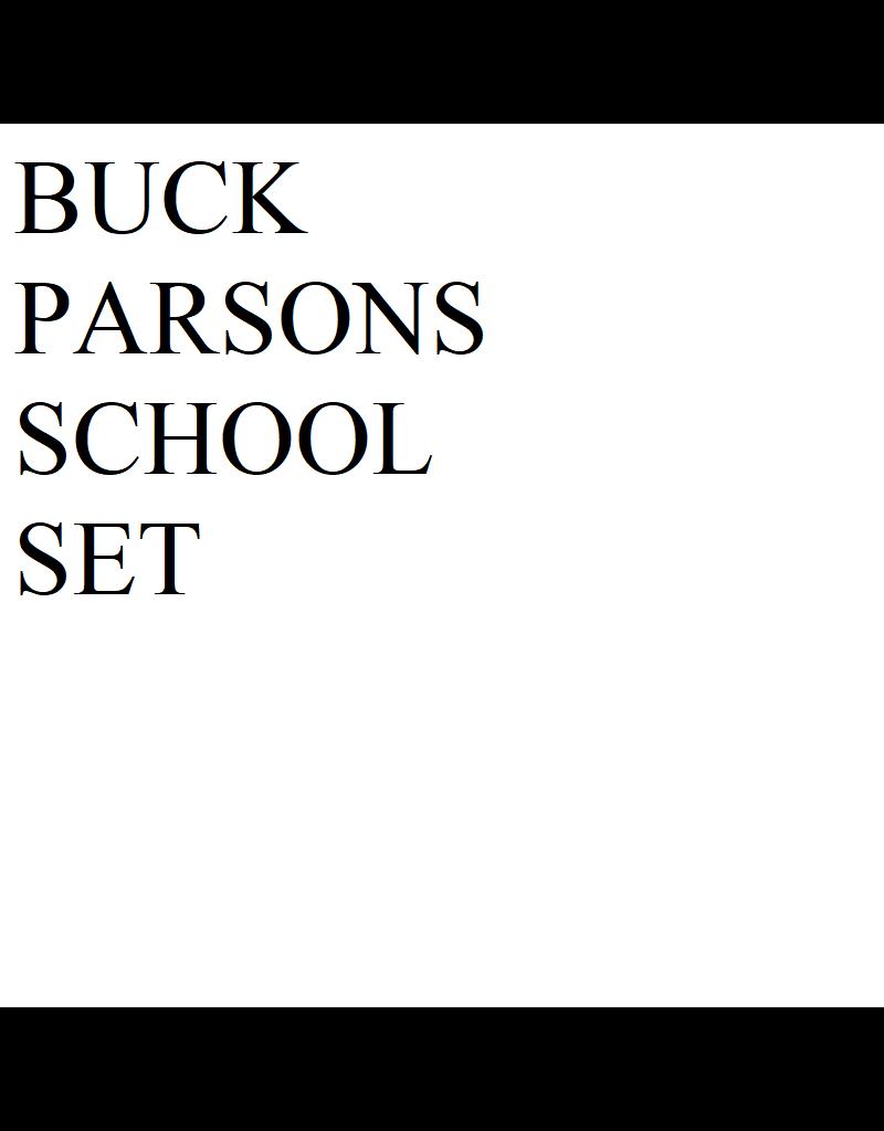 Just Sculpt Buck Parsons School Set