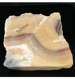37lb Cream Pink Onyx Stone 11x11x5 #521021