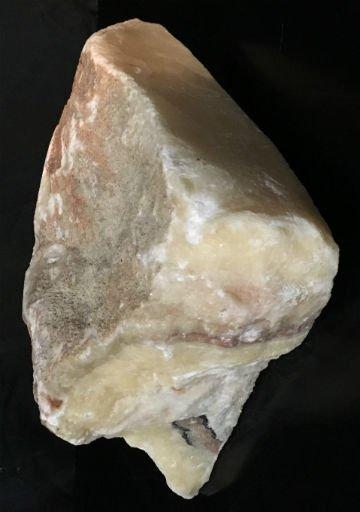 Stone 37lb Cream Pink Onyx Stone 11x11x5 #521021