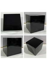 Just Sculpt Marble Base 5x5x5 black with white veining