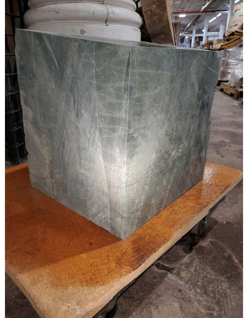 "Just Sculpt 211lb Green Nephrite Jade 12""x12""x12"" Block J023"