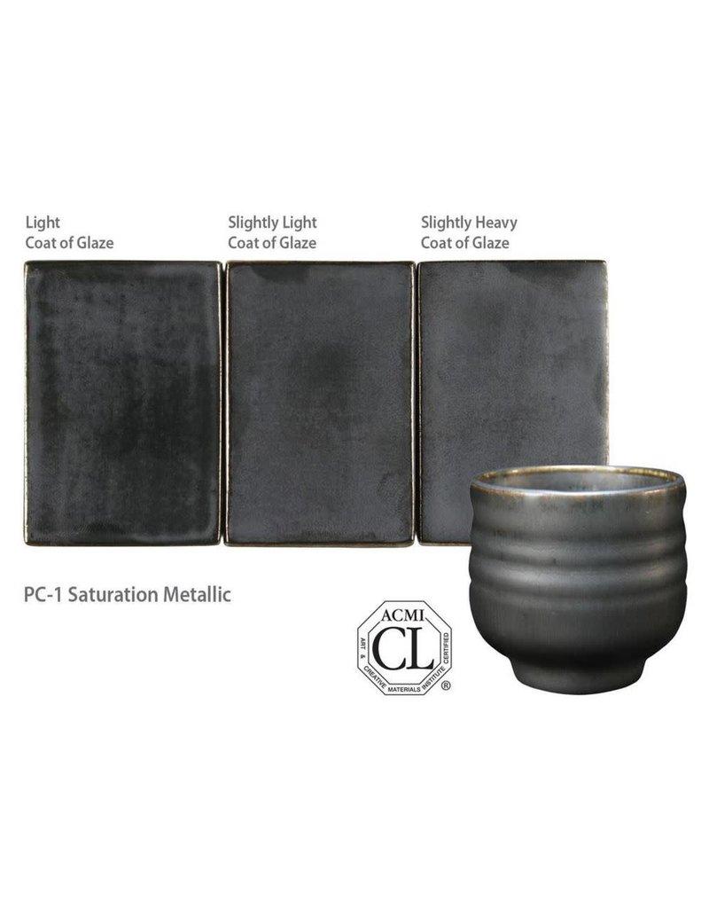 Amaco High Fire Potters Choice Glaze Saturation Metallic PC-01