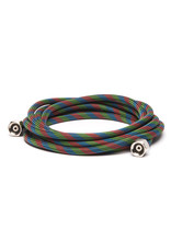 """Iwata 10' Braided Nylon Air Hose with Two 1/4"""" Fittings"""