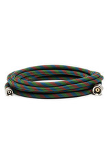 "Iwata 10' Braided Nylon Airbrush Hose with Iwata Airbrush Fitting and 1/4"" Compressor Fitting"