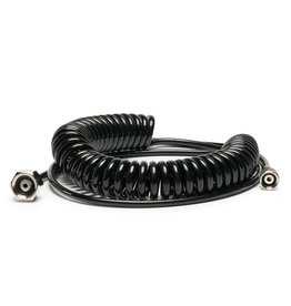 """Iwata 10' Cobra Coil Airbrush Hose with Iwata Airbrush Fitting and 1/4"""" Compressor Fitting"""