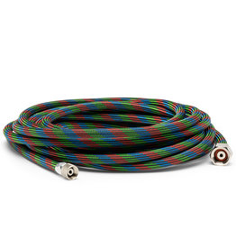 "Iwata 20' Braided Nylon Covered Airbrush Hose with Iwata Airbrush Fitting & 1/4"" Compressor Fitting"