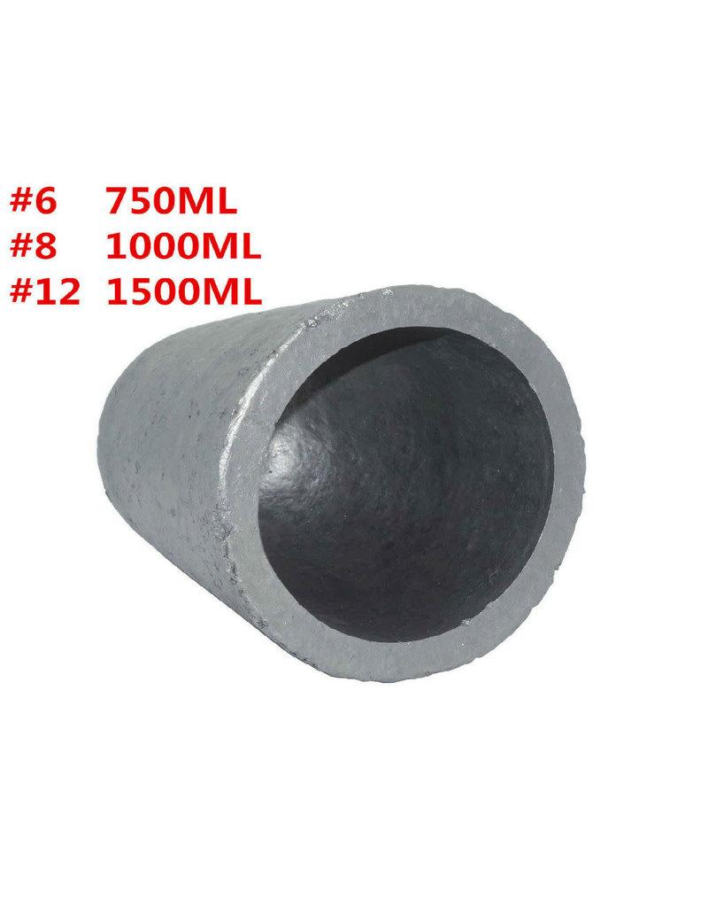 Crucible #8 Silicon Carbide Graphite