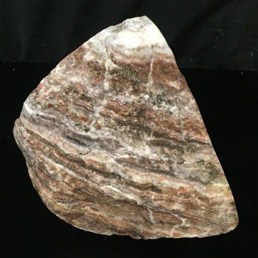 33lb Brown Banded Onyx Stone 12x8x7 #521026