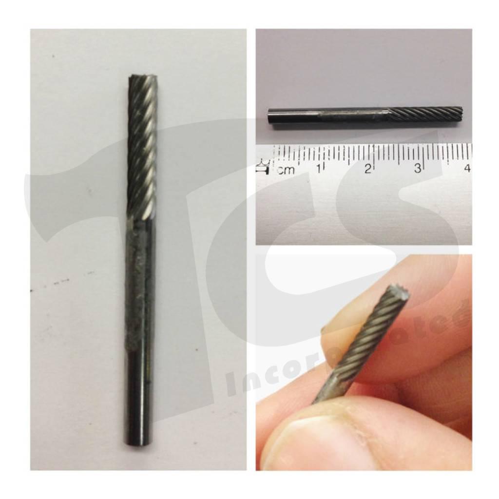 Cylinder End Cut Single Cut Carbide Burr SB-43