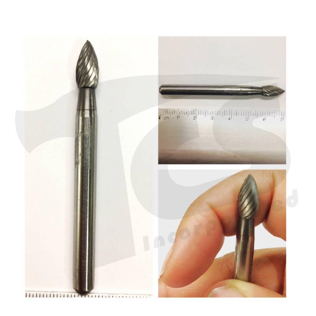 Flame Single Cut Carbide Burr SH-1
