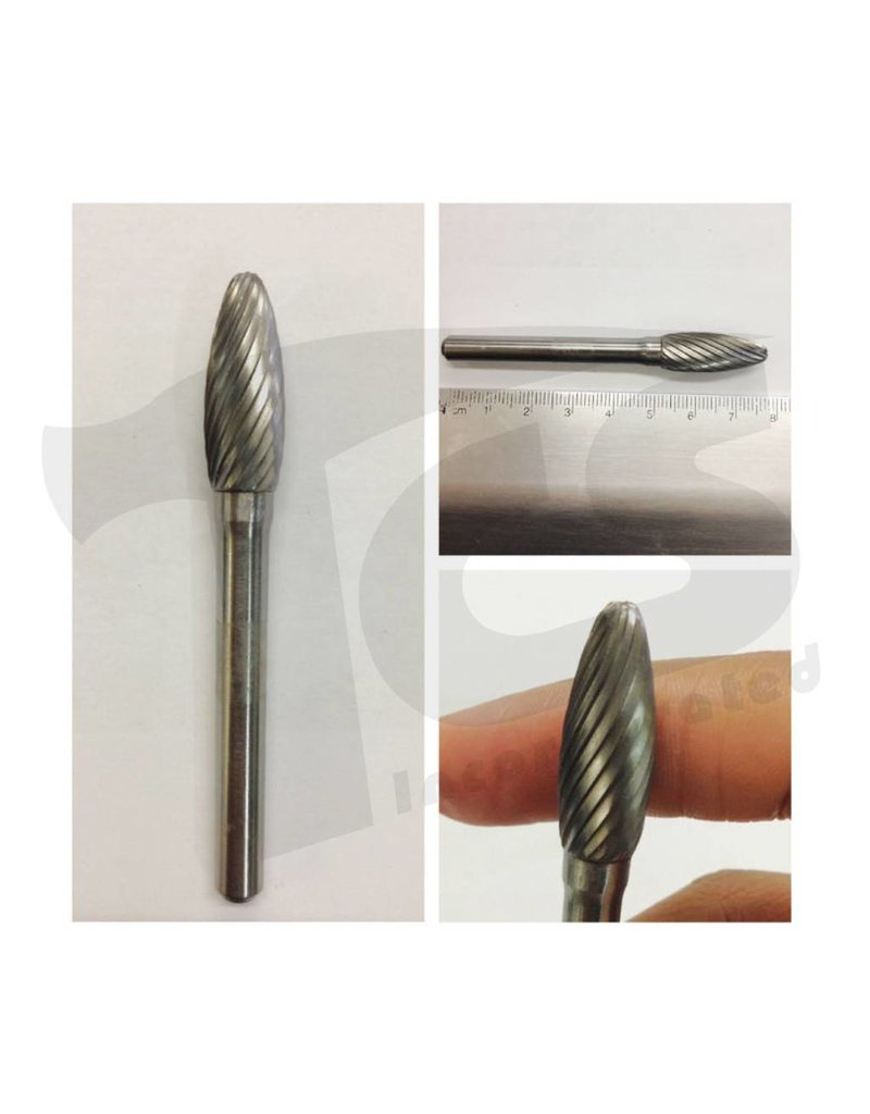 Just Sculpt Flame Single Cut Carbide Burr SH-3