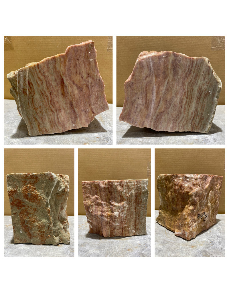 Stone 23lb Red Raspberry Alabaster 7x6x6 #161065