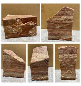 Stone 17lb Red Raspberry Alabaster 8x6x4 #161068