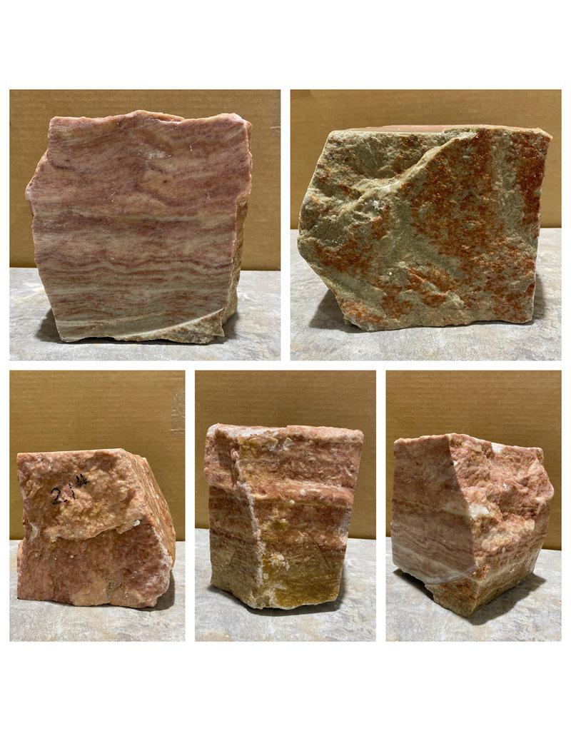 Stone 21lb Red Raspberry Alabaster 7x6x6 #161070