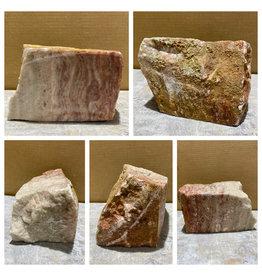 Stone 13lb Red Raspberry Alabaster 7x5x4 #161071