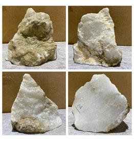 Stone 12lb Mario's White Translucent Alabaster 8x7x7 #101151