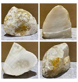 Stone 14lb Mario's White Translucent Alabaster 7x6x6 #101149