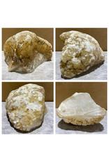 Stone 15lb Mario's White Translucent Alabaster 8x7x5 #101147