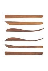 Sculpture House Acacia Wood 8-Inch Tools - Set of 6 Tools
