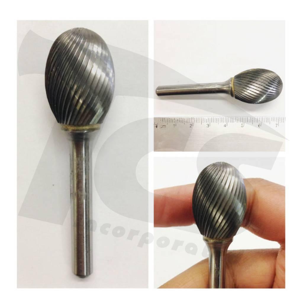 Oval Single Cut Carbide Burr SE-6