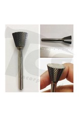 Just Sculpt Inverted Cone Single Cut Carbide Burr SN-7