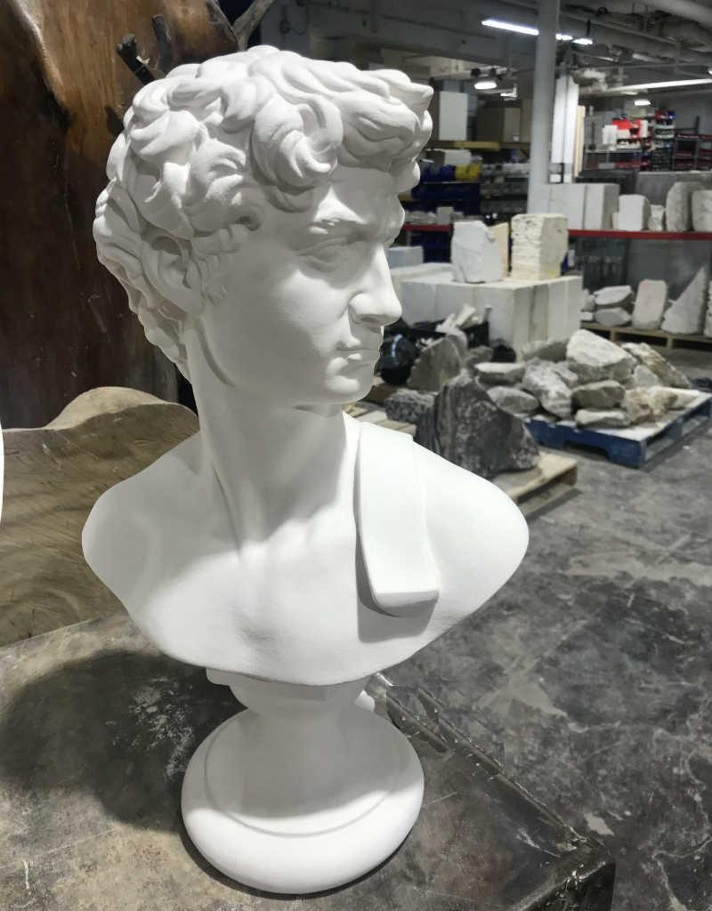 Just Sculpt David Plaster Bust