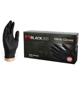 Just Sculpt Black Nitrile Industrial Gloves Medium Box of 200