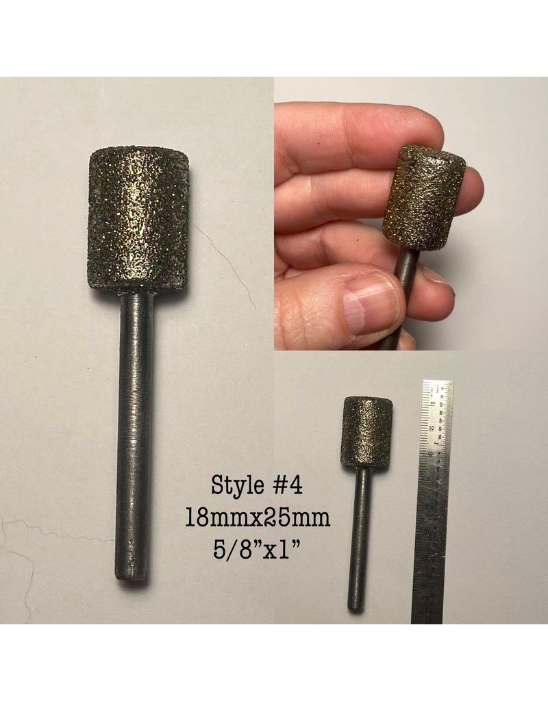"Just Sculpt Diamond Burr Cylinder 5/8x1"" (18x25mm) 1/4"" Shaft"