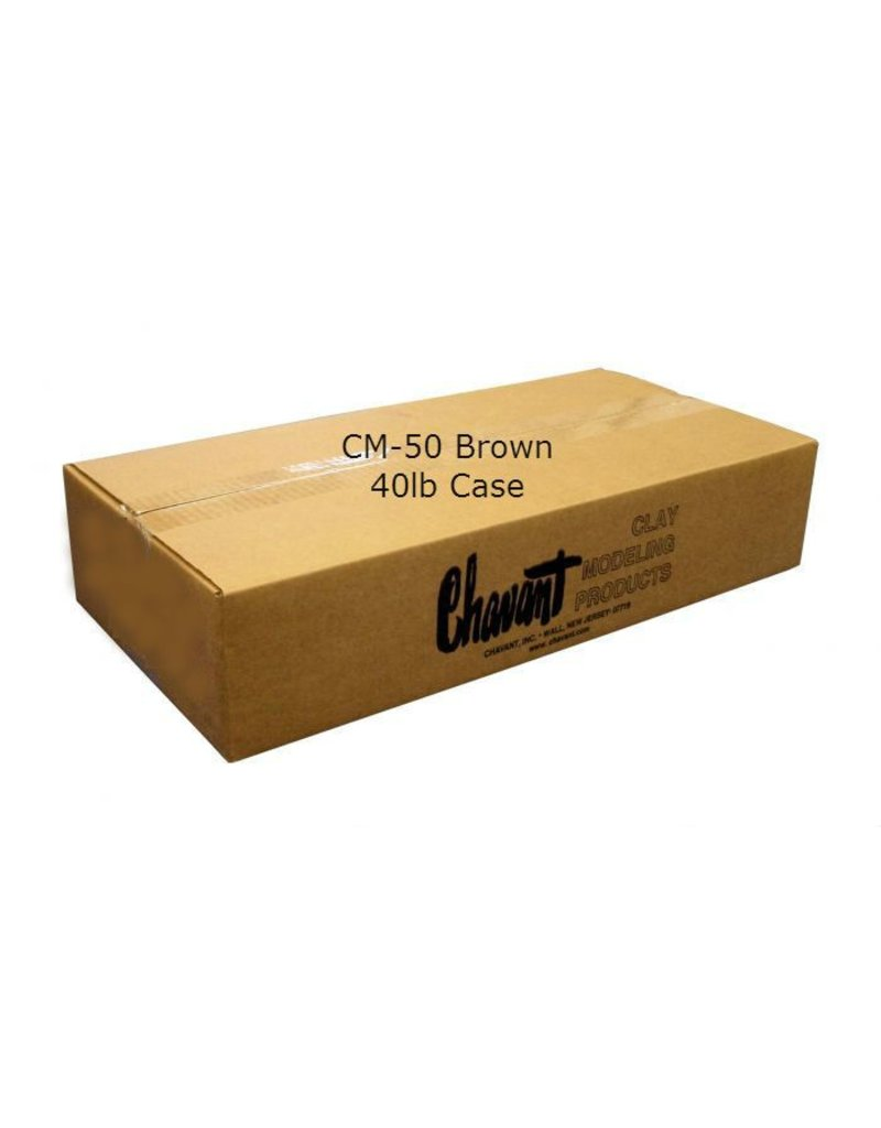 Chavant CM-50 Brown 40lb Case (2lb Blocks)