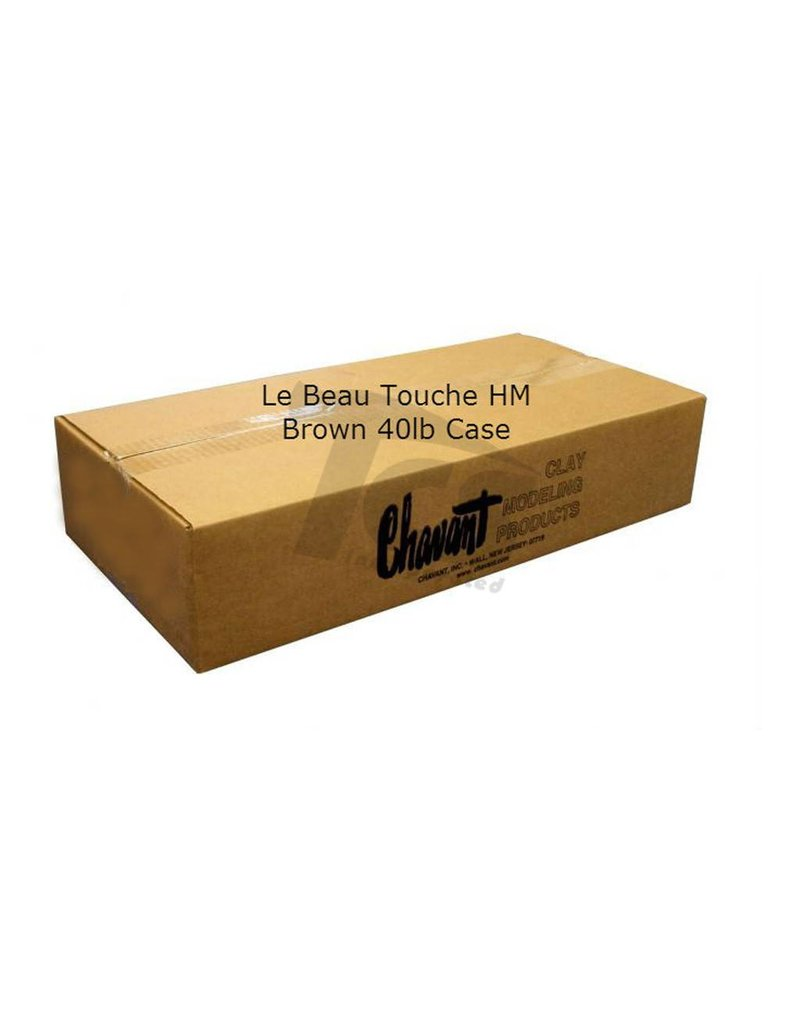 Chavant Le Beau Touche HM Brown 40lb Case (2lb Blocks)
