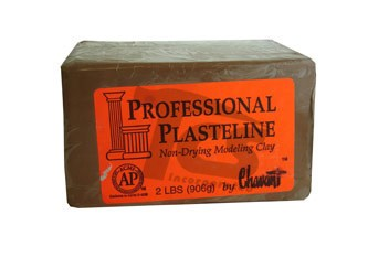 Chavant Professional Plasteline Brown 40lb Case (2lb Blocks)