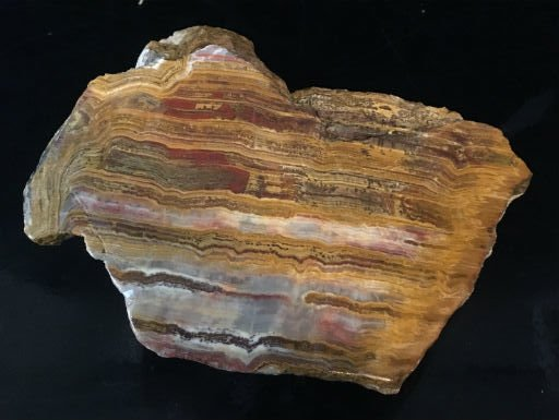 18lb Red Banded Onyx Stone 10x6x6 #521032