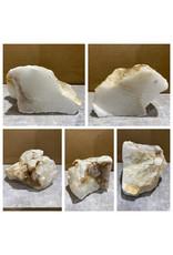 Stone 11lb Mario's White Translucent Alabaster 8x5x5 #101159