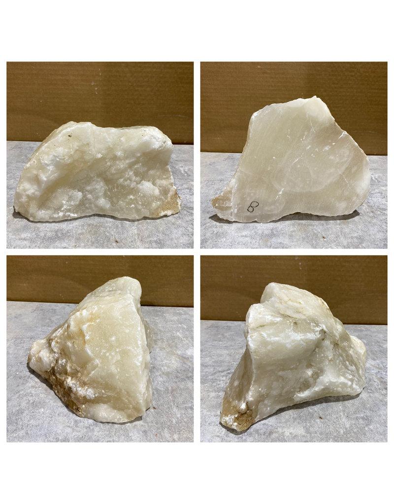 Stone 8lb Mario's White Translucent Alabaster 7x6x3 #101156