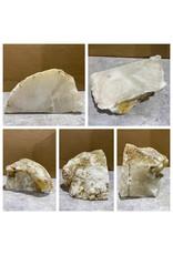 Stone 12lb Mario's White Translucent Alabaster 9x4x4 #101155