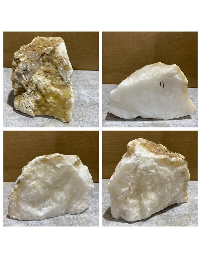 Stone 11lb Mario's White Translucent Alabaster 8x5x5 #101154