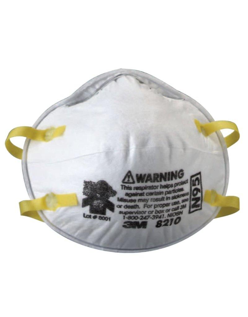 3M N95 Valveless Particulate Respirator Box 20