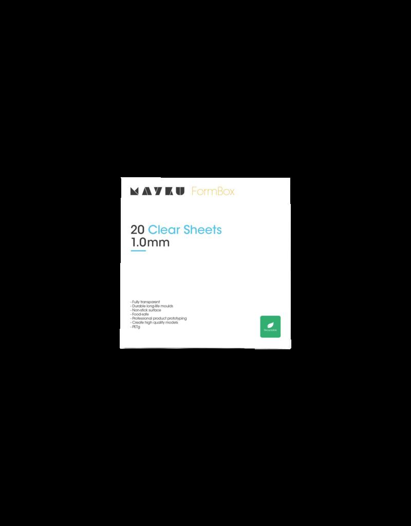 Mayku Clear Sheets 20 pack Thermoplastic PETG