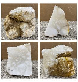 Stone 16lb Mario's White Translucent Alabaster 8x6x6 #101173
