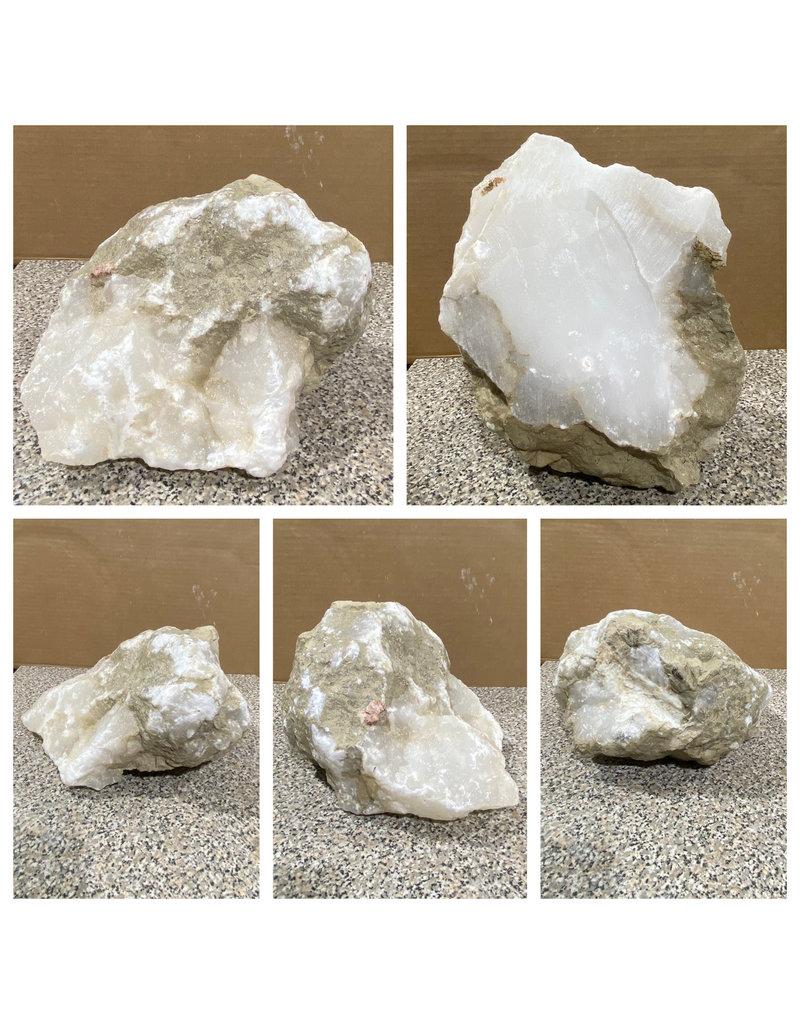 Stone 24lb Mario's White Translucent Alabaster 9x9x5 #101171
