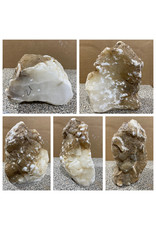 Stone 21lb Mario's White Translucent Alabaster 10x8x4 #101169