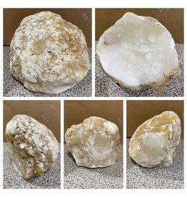 Stone 30lb Mario's White Translucent Alabaster 8x7x7 #101168
