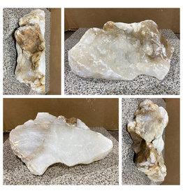 Stone 17lb Mario's White Translucent Alabaster 13x9x4 #101167