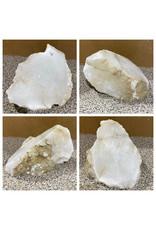 Stone 12lb Mario's White Translucent Alabaster 8x7x5 #101166