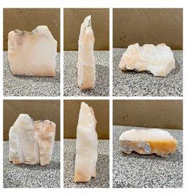 5lb Peach Translucent Alabaster 7x6x2 #251096