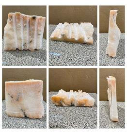 11lb Peach Translucent Alabaster 9x9x2 #251095
