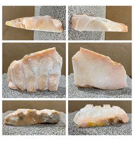 13lb Peach Translucent Alabaster 11x8x2 #251093