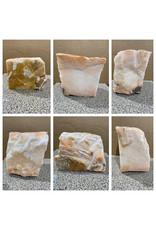 48lb Peach Translucent Alabaster 10x9x7 #251086