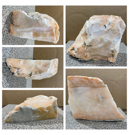 27lb Peach Translucent Alabaster 12x10x4 #251084